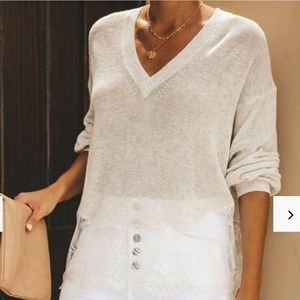VICI Collection Lace Knit Sweater